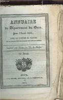 Annuaire Du Département Du Gers, Pour L'année 1833, Avec Le Système De Toaldo Et La Carte Géographique Du Département, I - Annuaires Téléphoniques