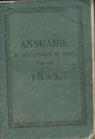 Annuaire Du Département Du Gers, Pour L'année 1822, Avec Le Système De Toaldo, Imprimé Par Ordre De M. Le Préfet - Colle - Annuaires Téléphoniques