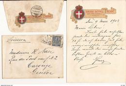 ROME LETTRE ET ENVELOPPE SAVOY HOTEL A ROME 1903 - Non Renseigné - 1903 - Non Classificati