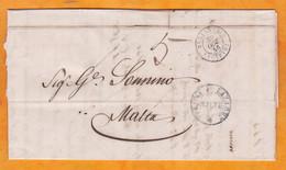 1846 - LAC En Italien - PURIFIEE Au Lazaret De L' Ile Manoel - D' Alexandrie Bureau Français En Egypte Vers Malte,GB - 1801-1848: Precursors XIX