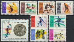 Polen 1855/63 ** Postfrisch Olympia Mexiko 1968 - Unused Stamps