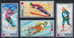 Polen 2143/46 ** Postfrisch Olympia Sapporo 1972 - Unused Stamps