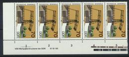 DDR 5x3206 Eckrand Mit Druckvermerk ** Postfrisch - Unused Stamps