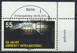 BRD 2873 Eckrand Oben Rechts O Sonderstempel Berlin - Used Stamps