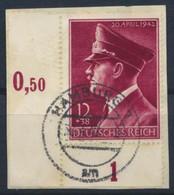 Deutsches Reich 813 Eckrand O Briefstück - Oblitérés