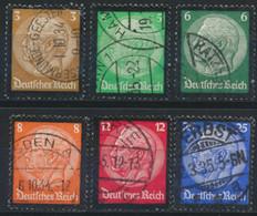 Deutsches Reich 548/53 O - Usados