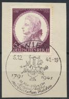 Deutsches Reich 810 O Briefstück Sonderstempel Wien Mozartwochen - Usados