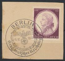 Deutsches Reich 810 O Briefstück Sonderstempel Berlin Reichstag - Usados