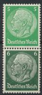 Deutsches Reich Zusammendruck S187 ** Postfrisch - Se-Tenant