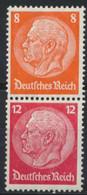 Deutsches Reich Zusammendruck S201 ** Postfrisch - Se-Tenant