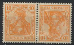 Deutsches Reich Zusammendruck K1 * - Se-Tenant