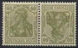 Deutsches Reich Zusammendruck K4 * - Se-Tenant