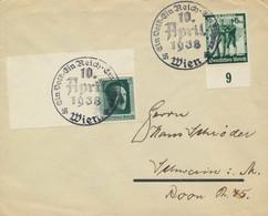 Deutsches Reich 646,662 Auf Brief Sonderstempel Wien - Covers & Documents