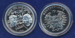 Medaille Sophie Und Hans Scholl 35,2mm Silber Ag333 Spiegelglanz - Unclassified