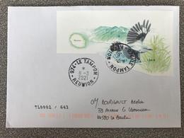 Lettre Avec Timbre Tuit Tuit Oiseaux Des Iles Bloc Cachet Rond Le Tampon Ile De La Reunion 11/03/2021 Ayant Circulé - Cartas