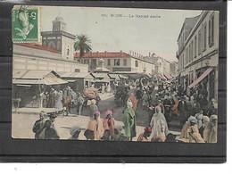 Afrique-Algerie-BONE -( Annada)-Une Vue Animée Du Marché Arabe -Carte Colorisée - Annaba (Bône)