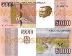 ANGOLA 5000 Kwanzas 2020 (2012) - Kapanda Falls, New Signature,  PNEW, Paper, UNC - Angola