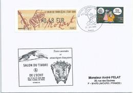 Vignette De Distributeur LISA - ATM - Salon Du Timbre Et De L'écrit - Mozart - Violon - Piano - YT A60 - Le Chat - 1999-2009 Viñetas De Franqueo Illustradas
