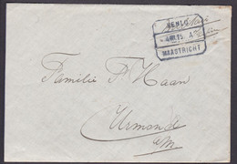 Netherlands 1915 Unfranked Cover From Venlo To Urmond - Postal History