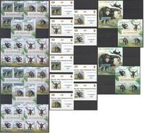 XX632 IMPERFORATE, PERFORATE 2012 BURUNDI ANIMALS PRIMATES CHIMPANZES 12KB+2BL+10 LUX BL MNH - Chimpansees