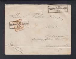 NDP Okkupationsgebiete Brief Feldpost Relais 72 Nach Gerstungen - North German Conf.