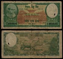 NEPAL BANKNOTE - 100 RUPEES (1961) P#15 VG (NT#03) - Nepal