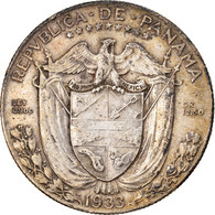 Monnaie, Panama, 1/2 Balboa, 1933, TTB, Argent, KM:12.1 - Panama