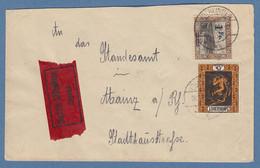Saargebiet 1924 Eilbrief Von Völklingen Nach Mainz, MIF Mi.-Nr. 80 Und 85  - Non Classificati