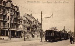 P445 KNOKKE : Lippenslaan, Tram - Knokke