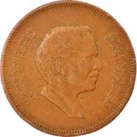 Monnaie, Jordan, Hussein, 10 Fils, Qirsh, Piastre, 1978/AH1398, TB+, Bronze - Jordan
