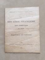 La Situation Financière Des Communes En 1879-Département Des Ardennes–imp à Nancy - Historical Documents