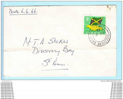 Jamaika Jamaica Jamaique Brief Cover Lettre 223 Flagge - 06.06.1966 (22948) - Giamaica (1962-...)