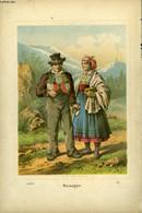 1 GRAVURE 19° EN COULEURS - NORWEGER EN COSTUME - *** - 1881 - Prints & Engravings