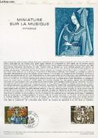 DOCUMENT PHILATELIQUE OFFICIEL N°03-79 - MINIATURE SUR LA MUSIQUE 15° SIECLE (N°2023 YVERT ET TELLIER) - HALEY C. - 1979 - Lettres & Documents