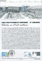DOCUMENT PHILATELIQUE OFFICIEL - COURS CONSTITUTIONNELLES EUROPEENNES - 9° CONFERENCE - PROTECTION DES DROITS DE L'HOMME - Lettres & Documents