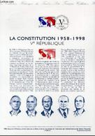 DOCUMENT PHILATELIQUE OFFICIEL - LA CONSTITUTION 1958-1998 - 5° REPUBLIQUE (N°3195 YVERT ET TELLIER) - COUSIN JEAN-PAUL - Lettres & Documents
