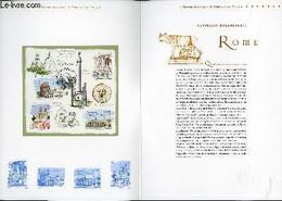 DOCUMENT PHILATELIQUE OFFICIEL - CAPITALES EUROPEENNES - ROME (N°3527-3530 YVERT ET TELLIER) - BESSER V. - 2002 - Lettres & Documents