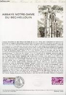DOCUMENT PHILATELIQUE OFFICIEL N°15-78 - ABBAYE NOTRE-DAME DU BEC-HELLOUIN (N°1999 YVERT ET TELLIER) - GAUTHIER - 1978 - Lettres & Documents