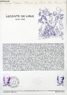 DOCUMENT PHILATELIQUE OFFICIEL N°14-78 - LECONTE DE LISLE 1818-1894 (N°1988 YVERT ET TELLIER) - COMBET J. - 1978 - Lettres & Documents