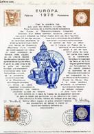 DOCUMENT PHILATELIQUE OFFICIEL N°11-76 - EUROPA 1976 - FAIENCE - PORCELAINE (N°1877-78 YVERT ET TELLIER) - COLLECTIF - 1 - Lettres & Documents