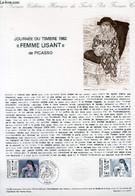 """DOCUMENT PHILATELIQUE OFFICIEL N°12-82 - JOURNEE DU TIMBRE 1982 - """"FEMME LISANT"""" DE PICASSO (N°2205 YVERT ET TELLIER) - - Lettres & Documents"""
