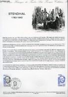 DOCUMENT PHILATELIQUE OFFICIEL N°38-83 - STENDHAL 1783 - 1842 (N°2284 YVERT ET TELLIER) - FONBOUIER V. - 1983 - Lettres & Documents
