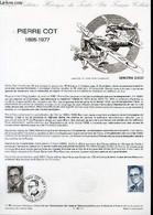 DOCUMENT PHILATELIQUE OFFICIEL N°11-86 - PIERRE COT 1895-1977 (N°2406 YVERT ET TELLIER) - VERET-LEMONNIER - JUMELET C. - - Lettres & Documents