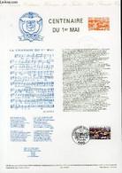 DOCUMENT PHILATELIQUE OFFICIEL N°14-90 - CENTENAIRE DU 1° MAI (N°2644 YVERT ET TELLIER) - RELANGE J. M. - 1990 - Lettres & Documents