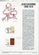 DOCUMENT PHILATELIQUE OFFICIEL N°11-90 - JEAN GUEHENNO 1890-1978 (N°2641 YVERT ET TELLIER) - FORGET P. - 1990 - Lettres & Documents