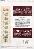 DOCUMENT PHILATELIQUE OFFICIEL N°12BIS-88 - CARNET JOURNEE DU TIMBRE 1988 - VOITURE MONTEE (N°BANDE CARNET YVERT ET TELL - Lettres & Documents