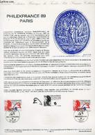 DOCUMENT PHILATELIQUE OFFICIEL N°11-88 - PHILEXFRANCE 89 PARIS (N°2524 YVERT ET TELLIER) - GUILLAUME - 1988 - Lettres & Documents