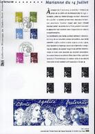 DOCUMENT PHILATELIQUE OFFICIEL - MARIANNE DU 14 JUILLET (N°3570-3575 YVERT ET TELLIER) - *** - 2003 - Lettres & Documents