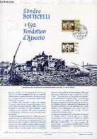 DOCUMENT PHILATELIQUE OFFICIEL N°12-92 - SANDRO BOTTICELLI - 1492 - FONDATION D'AJACCIO (N°2754 YVERT ET TELLIER) - VERE - Lettres & Documents
