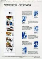 DOCUMENT PHILATELIQUE OFFICIEL N°11BIS-92 - MUSICIENS CELEBRES (N°2753 YVERT ET TELLIER) - LAVERGNE A. - 1992 - Lettres & Documents